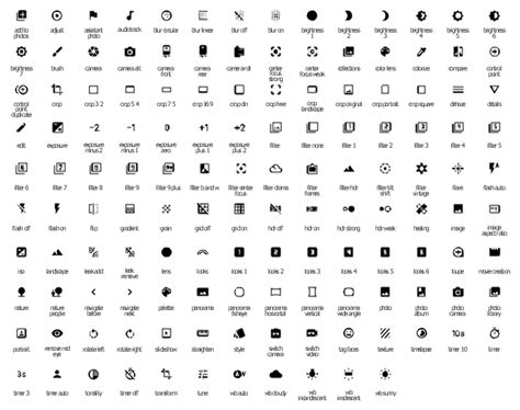 Android Symbols Top Bar Guide by Android Ui Design Design Elements Android System Icons