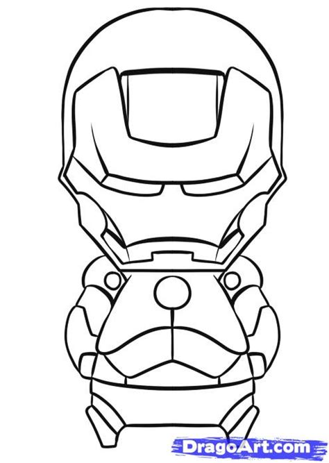 baby iron man coloring pages how to draw chibi iron man step by step chibis draw