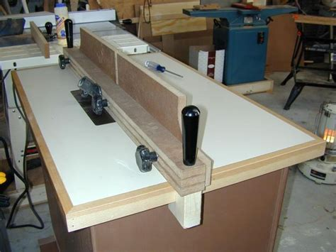 woodworking jigs shop made router table fence routers woodworking