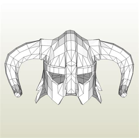 iron helmet template papercraft template for skyrim iron helmet