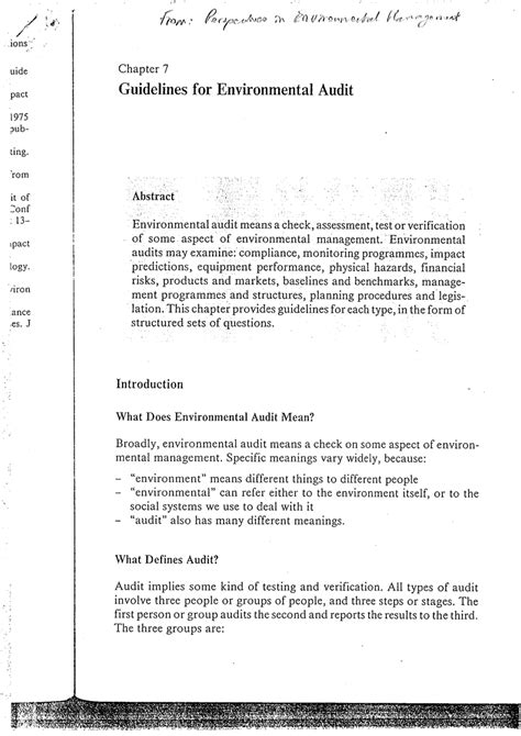 design for environment guidelines pdf guidelines for environmental audit pdf download available