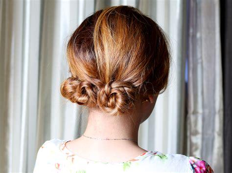 wikihow braid 4 ways to make a braided bun wikihow