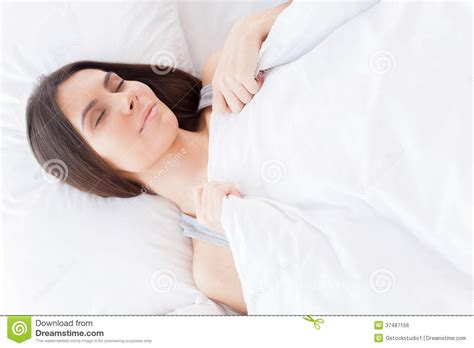 lying in my bed woman sleeping royalty free stock image image 37487156