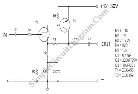 fet transistor noise jfet low noise pre simple circuit diagram