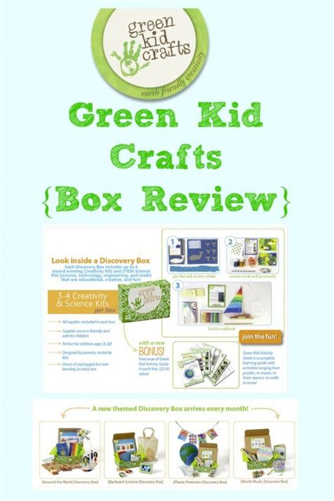 Green Kid Crafts Box Review The Homeschool