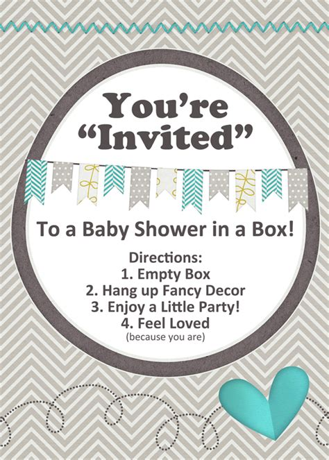 Baby Shower In A Box by Baby Shower In A Box Diy Welcometothemousehouse
