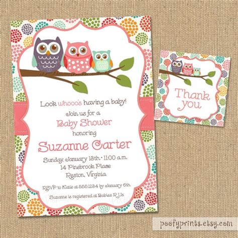Free Printable Owl Baby Shower Invitations by Owl Baby Shower Invitations Diy Printable Baby