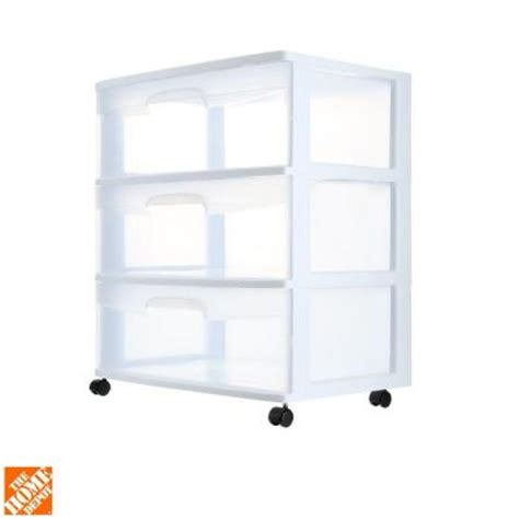 Sterlite 3 Drawer Cart by Sterilite 3 Drawer Cart 29308001 The Home Depot