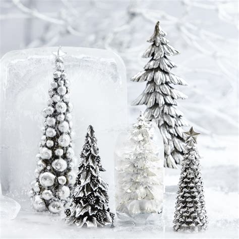 silver tree decorations lene bjerre silver ornamental tree decoration