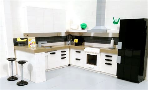 lego kitchen tiles or studs realistic kitchen moc by heikki mattila