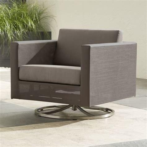 dune swivel lounge chair  sunbrella cushions sunbrella taupe crate  barrel