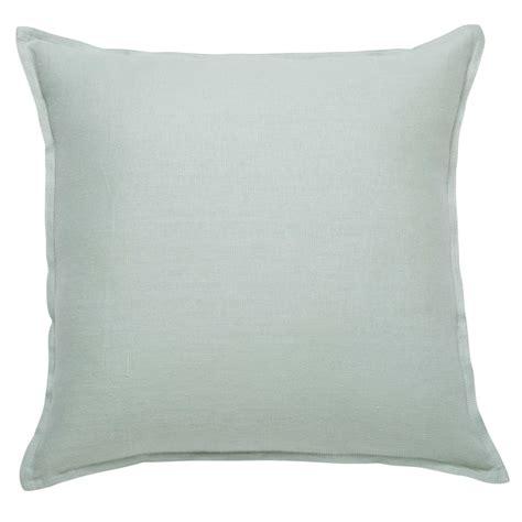 cuscini 60x60 cuscino verde acqua in lino lavato 60x60 maisons du monde