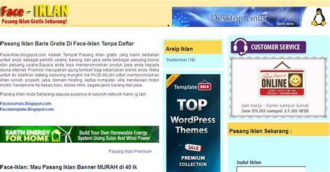 download template iklan baris untuk blog facewoman blogspot
