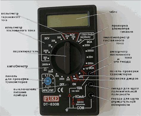 инструкция к мультиметр dt830b