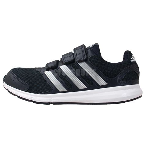adidas lk sport cf k black white velcro 2014 youth running shoes sneakers ebay