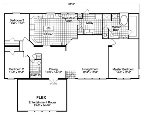 bonanza house floor plan the bonanza flex scxe64f1 home floor plan manufactured