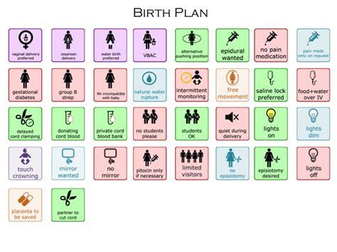 Customizable Visual Birth Plan Hashtag Bg Visual Birth Plan Template