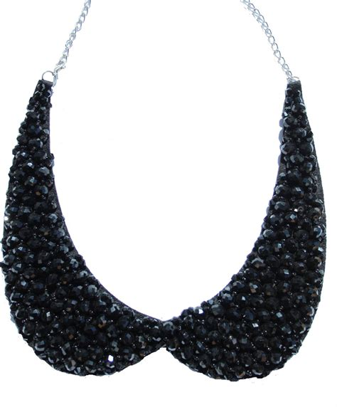 how to make a collar necklace with black collar necklace
