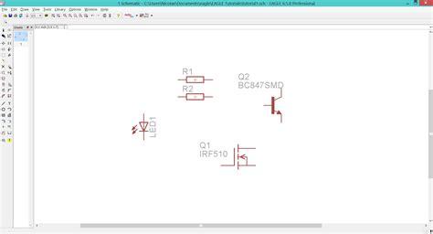 transistor fet lbr teknoow eagle cad let s make a real schematic