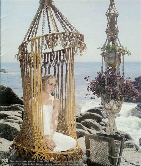 macrame swing chair pattern macrame hanging chair products i love pinterest