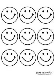 Birthday Decoration At Home 9 Happy Faces Coloring Page Print Color Fun