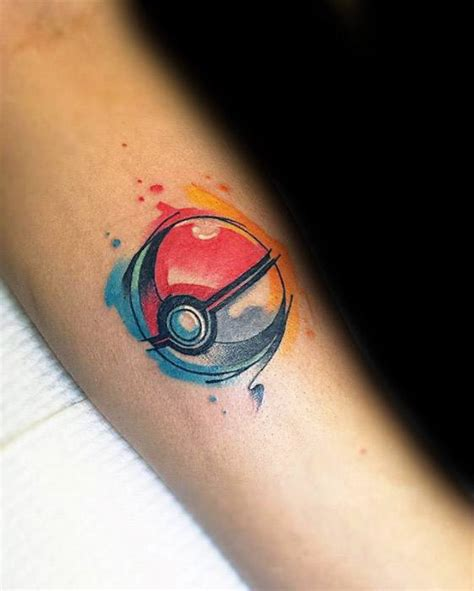 pokeball tattoo 50 pokeball designs for ink ideas