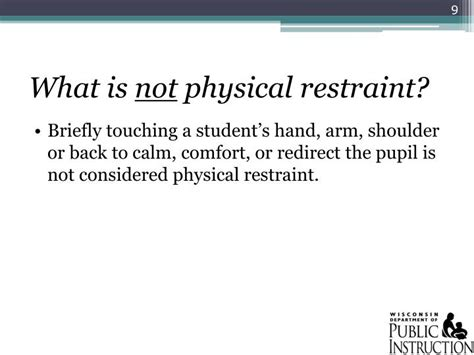 what is physical comfort ppt 2011 wisconsin act 125 seclusion and physical