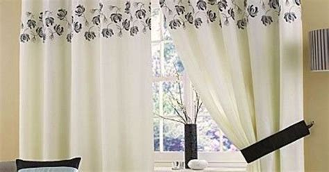 black and silver voile curtains cream black silver lined ring top eyelet voile curtains 46