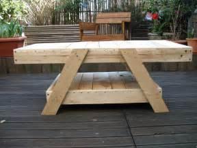 table basse en bois de palettes le de l atelier des
