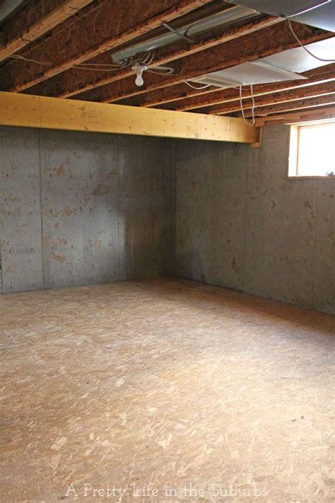 1000 ideas about basement subfloor on
