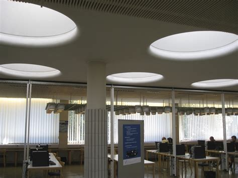 skylights otaniemi library finland patterns in