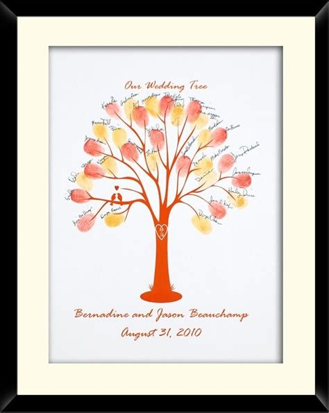 fingerprint family tree framed gifts pinterest