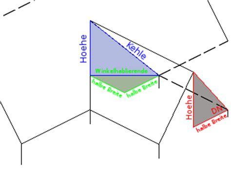 Walmdach Volumen Berechnen by Berechnung Dachfl 228 Chen Ausschnitten Technischer