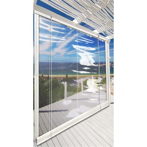 sunline clear patio 2760x2100mm timber headrail blind