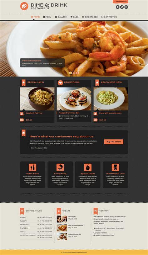 restaurant themes html 50 best restaurant wordpress themes templates design