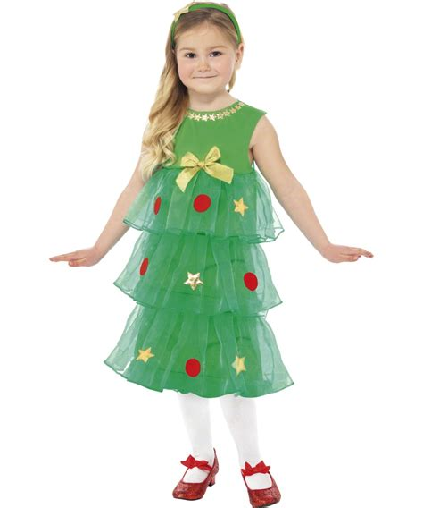 little christmas tree girls fancy dress kids costume