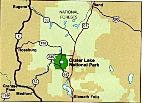 map crater lake oregon free oregon maps