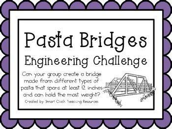 pasta bridges engineering challenge project great stem activity stem activities