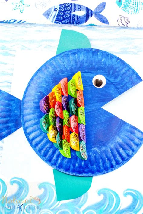 Fish Paper Plate Craft - paper plate fish craft archives living