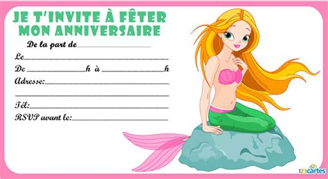 Invitation Anniversaire Sir 232 Ne De Mer 123 Cartes