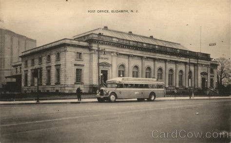 Post Office Elizabeth Nj by Post Office Elizabeth Nj Postcard