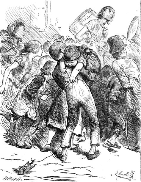 """""""The Tetterbys"""" by John Leech for Dickens's """"The Haunted"""