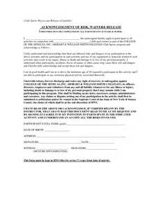 waiver template for liability best photos of release of liability waiver template