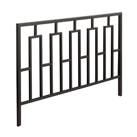 queen iron headboard only full queen metal slat headboard in satin black i 2616q