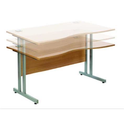 Adjustable Height Office Desks Wave Height Adjustable Office Desk