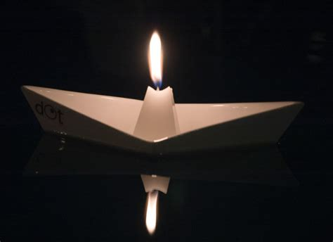 floating paper boat with candle floating boat candleholders by dot design milk
