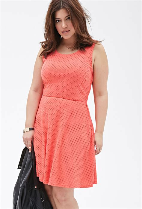 Knit Dress Okc 12 lyst forever 21 plus size perforated knit dress in pink