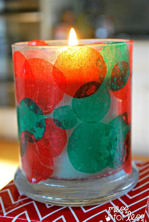 kids christmas craft candle holder mess for less