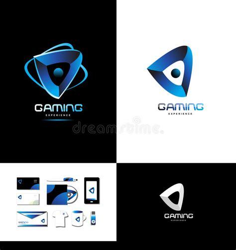 Game Playing Gaming Logo Stock Vector Illustration Of Concept 71663463 Vector Company Logo Element Template