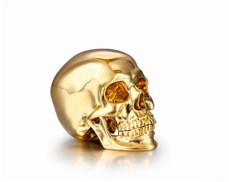 gold skull 1 2 quot solid 18k gold skull realistic skullis